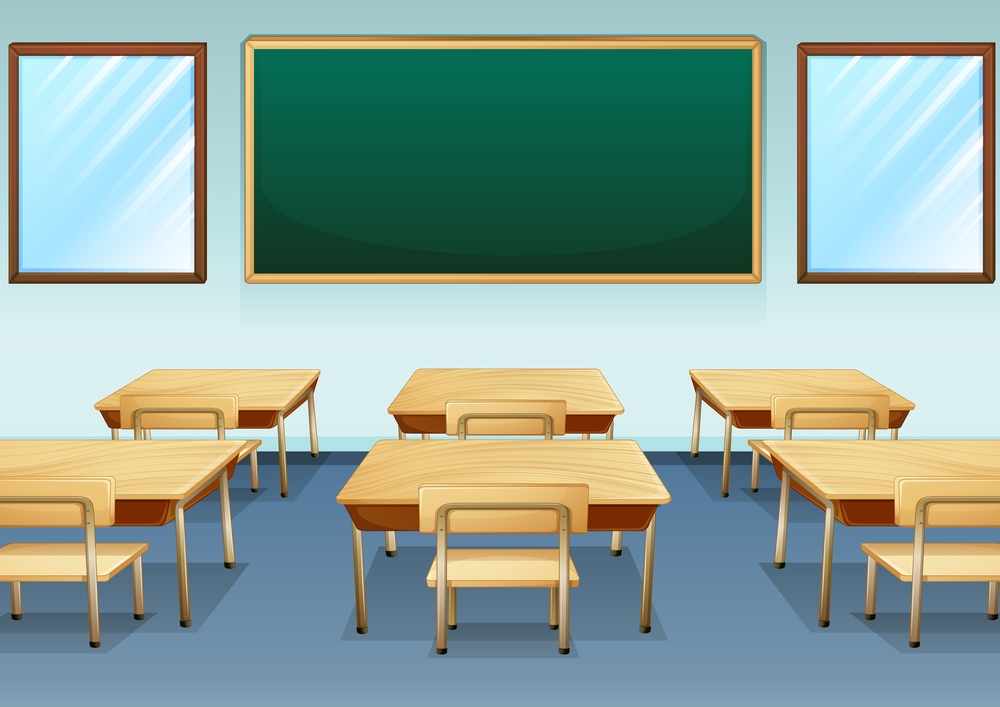 education jobs; empty school classroom