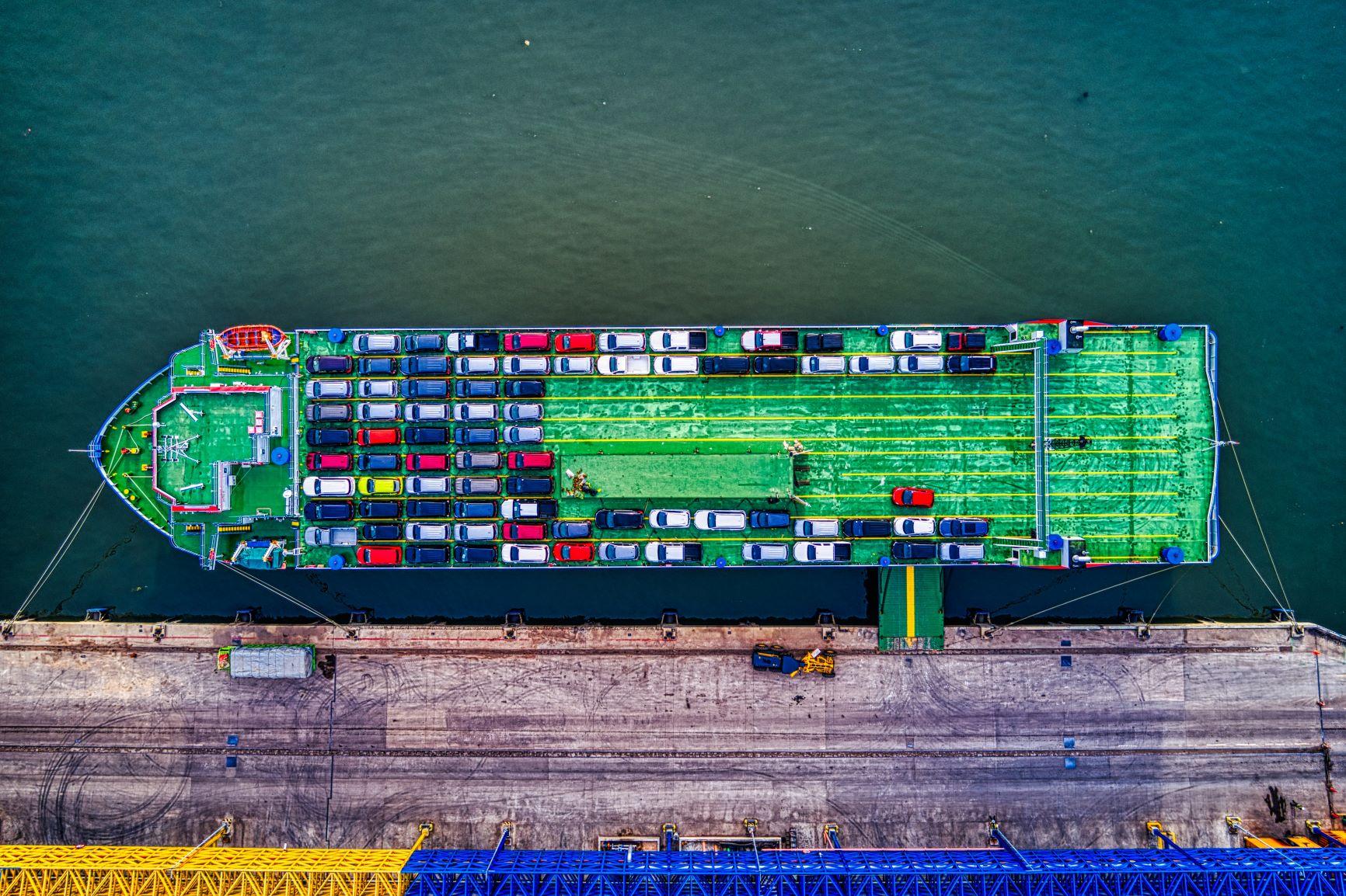 imports exports cargo ship